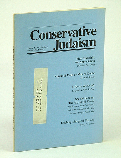Image for Conservative Judaism, Summer 1982 - Max Kadushin