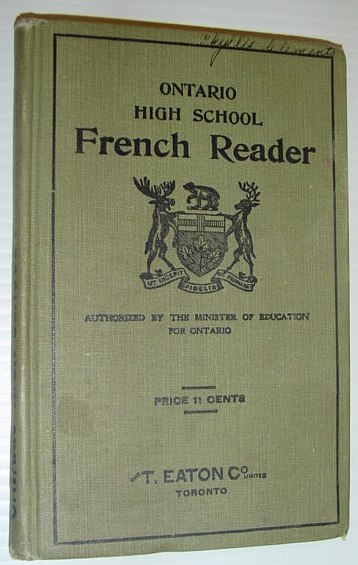 Image for The Ontario High School French Reader