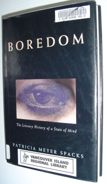 Image for Boredom: The Literary History of a State of Mind