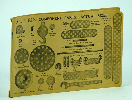 Image for Trix Component Parts, Elementary Constructions, and Illustrated Building Instructions for Nos. 117, 118, 119, 122, 125, 140, 126, 127, 128, 129, 131, 161, 135, 136, & More, Model No. 101B, 102B, 62, 64, 118, 126, 132, 103B, 115, 104B, 105B