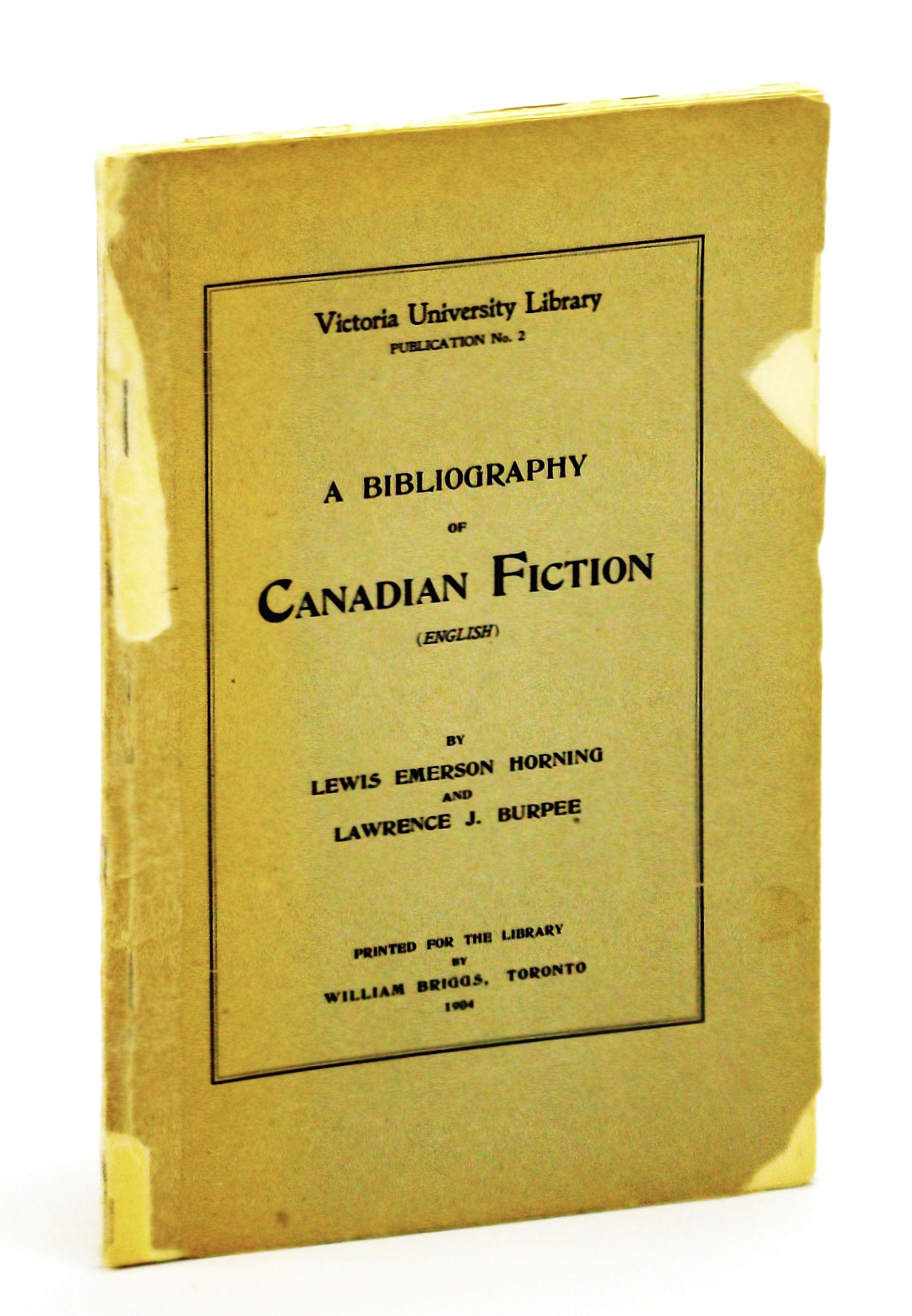 Image for A bibliography of Canadian fiction (English) (Victoria University Library. Publication)