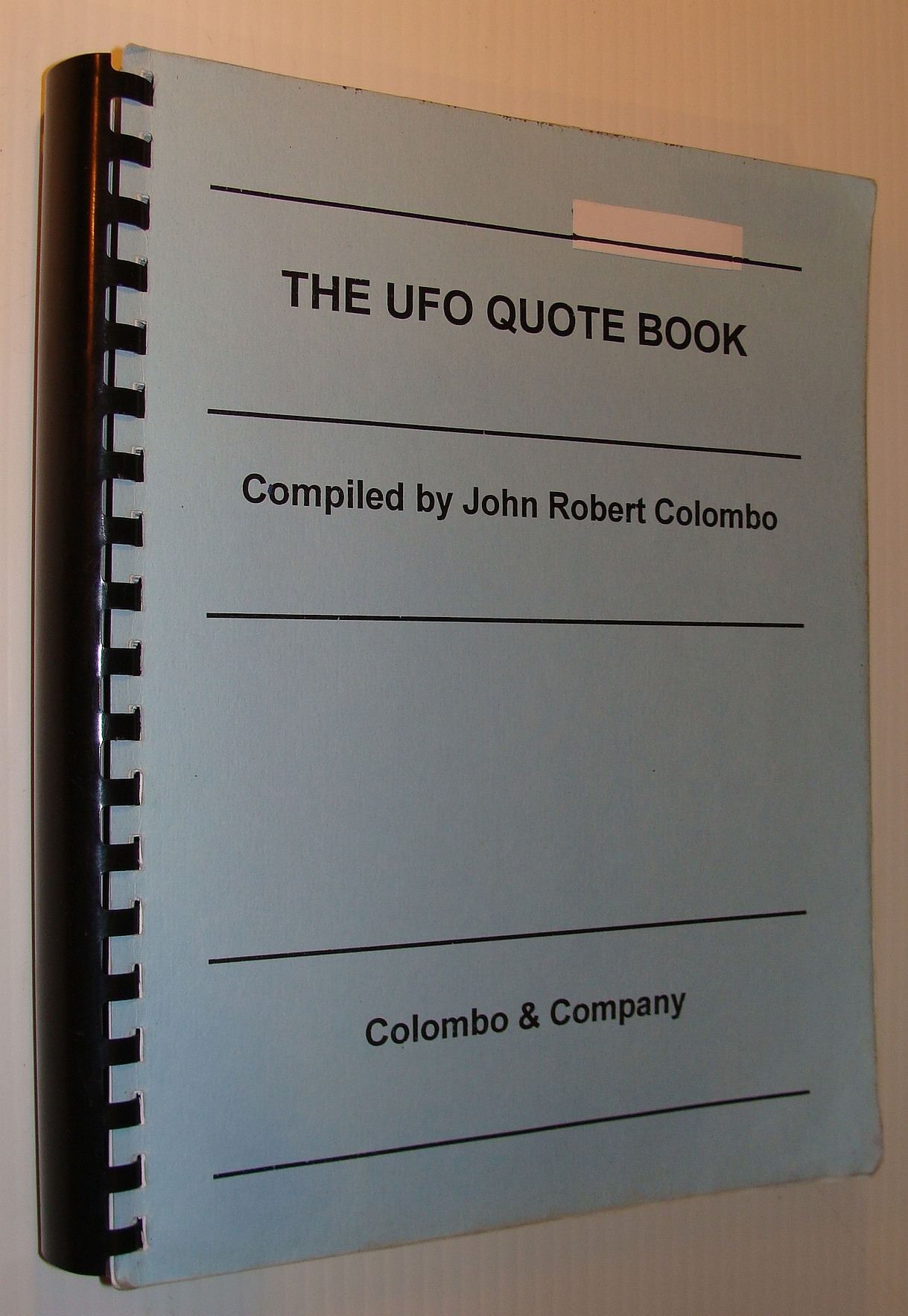 Image for The UFO Quote Book