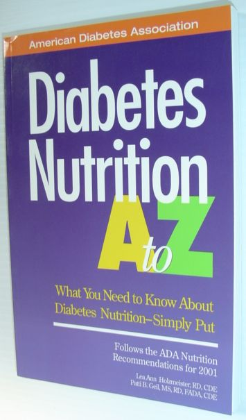 Image for Diabetes Nutrition A to Z