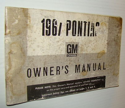 Image for !967 Pontiac Owner's Manual - Part No. 3402073