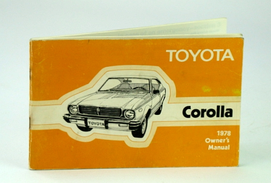 Image for 1978 Toyota Corolla Owners Manual