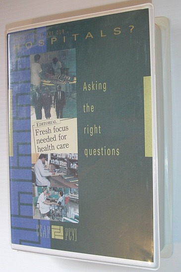 Image for How Effective Are Our Hospitals? - Asking the Right Questions: The Experience of the Queen Elizabeth Hospital - Toronto... Book and 23 Minute VHS Tape in Case
