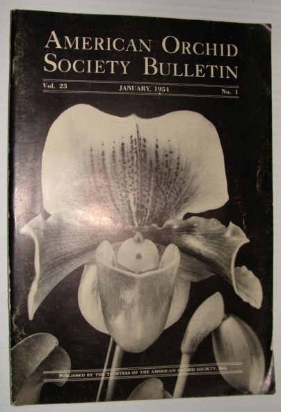 Image for American Orchid Society Bulletin Vol. 23 January, 1954 No. 1