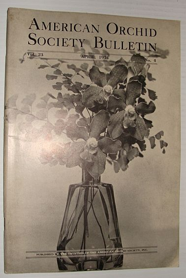 Image for American Orchid Society Bulletin Vol. 23 April, 1954 No. 4