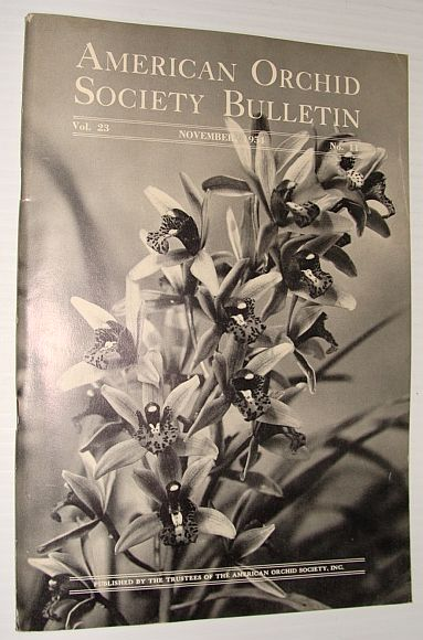 Image for American Orchid Society Bulletin Vol. 23 November, 1954 No. 11