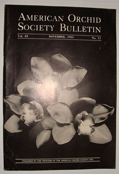 Image for American Orchid Society Bulletin Vol. 24 November, 1955 No. 11