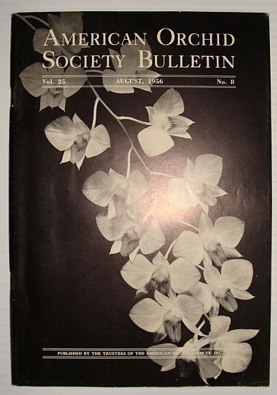 Image for American Orchid Society Bulletin Vol. 25 August, 1956 No. 8
