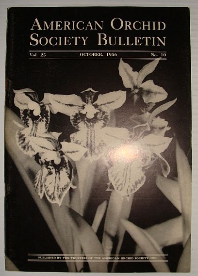 Image for American Orchid Society Bulletin Vol. 25 October, 1956 No. 10