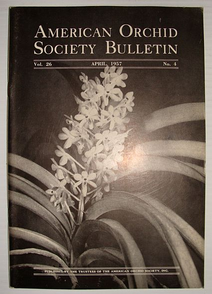 Image for American Orchid Society Bulletin Vol. 26 April, 1957 No. 4