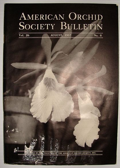 Image for American Orchid Society Bulletin Vol. 26 August, 1957 No. 8