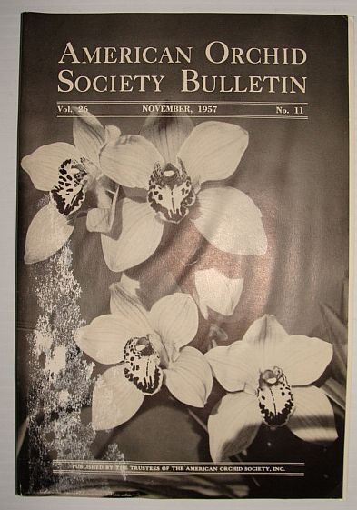 Image for American Orchid Society Bulletin Vol. 26 November, 1957 No. 11