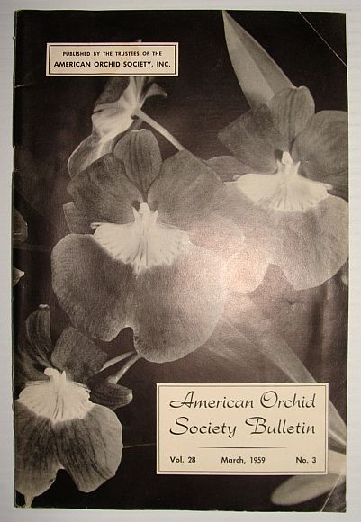 Image for American Orchid Society Bulletin Vol. 28 March, 1959 No. 3