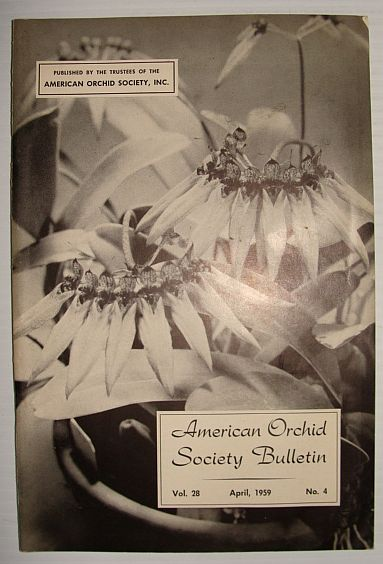 Image for American Orchid Society Bulletin Vol. 28 April, 1959 No. 4