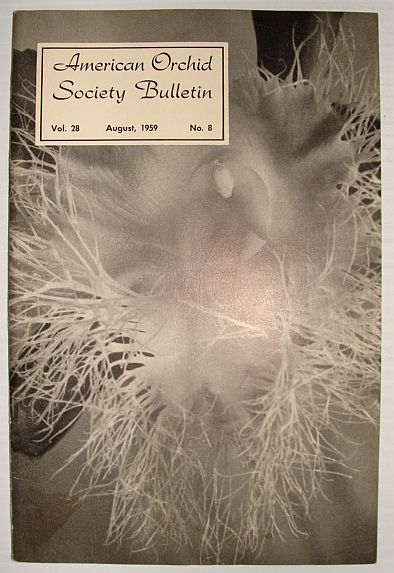 Image for American Orchid Society Bulletin Vol. 28 August, 1959 No. 8