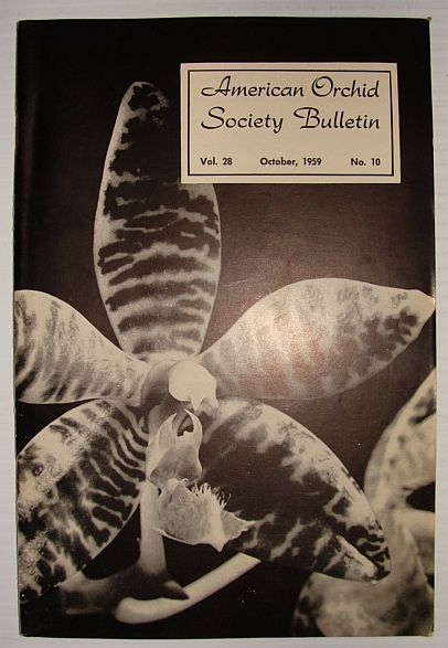 Image for American Orchid Society Bulletin Vol. 28 October, 1959 No. 10