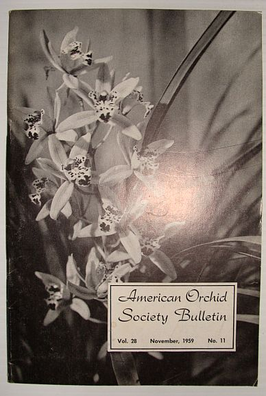 Image for American Orchid Society Bulletin Vol. 28 November, 1959 No. 11