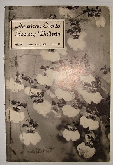 Image for American Orchid Society Bulletin Vol. 28 December, 1959 No. 12