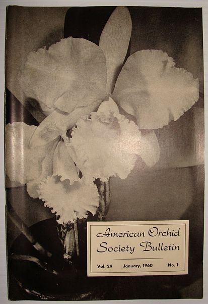 Image for American Orchid Society Bulletin Vol. 29 January, 1960 No. 1