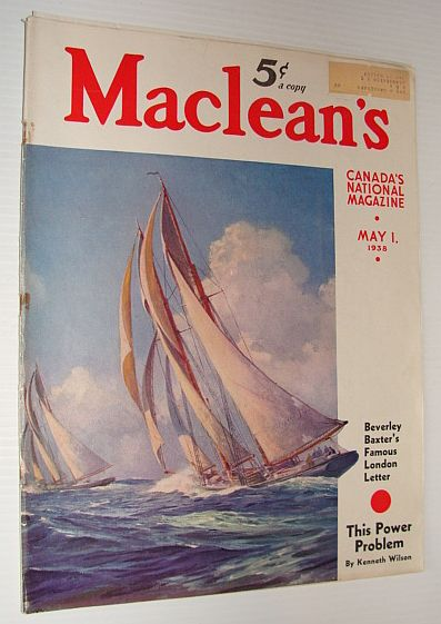 Image for Maclean's Magazine, 1 May 1938 *FASCISM IN CANADA - PART 2 OF 2*