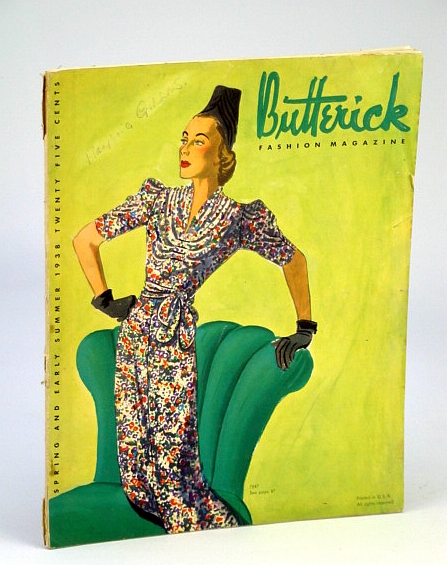 Image for Butterick Fashion Magazine, Spring and Early Summer 1938, Volume 31, No. 2