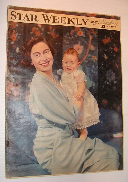 Image for The Star Weekly Magazine, 1 September 1951 *Baby Prince Charles Cover Photo*