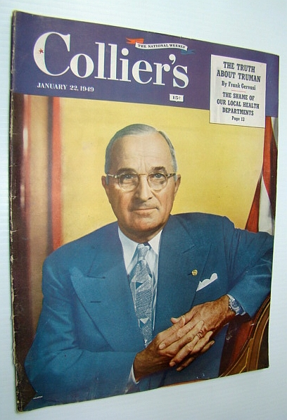 Image for Collier's - The National Weekly Magazine, January 22, 1949 - Harry Truman Cover Photo