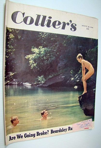 Image for Collier's, The National Weekly Magazine, August 20, 1949 - Skinny Dipping Cover Photo / The Secret Boss of Californa