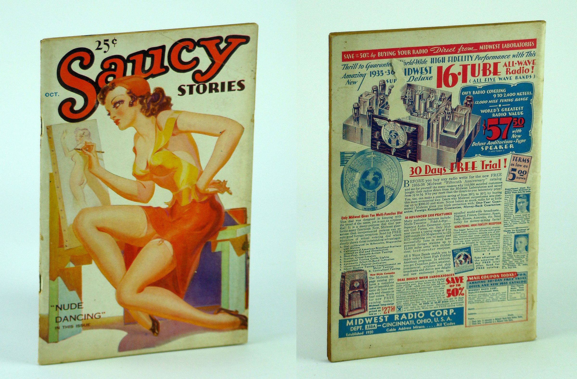 Image for Saucy Stories Digest (Magazine), October (Oct.) 1935, Volume 1, No. 1 - First/Premiere Issue
