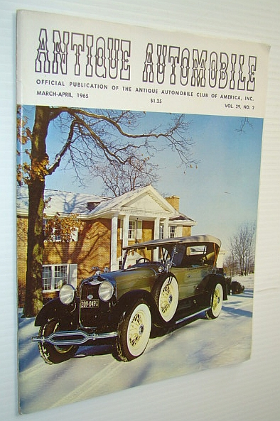 Image for Antique Automobile Magazine - Official Publication of the Antique Automobile Club of America, Inc., March-April 1965 - 1928 Locke Bodied Lincoln Dual Cowl Cover Photo