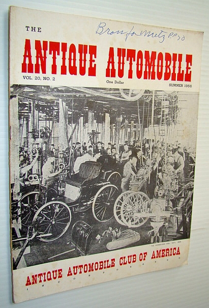 Image for The Antique Automobile Magazine, Summer 1956 (Vol. 20, No. 2)