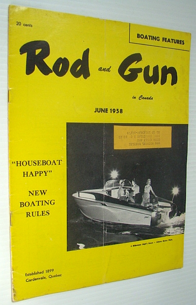 Image for Rod & Gun in Canada Magazine, June 1958  - Special Houseboat Issue