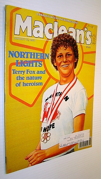 Image for Maclean's, Canada's Weekly Newsmagazine, January 12, 1981 - Terry Fox Cover Illustration