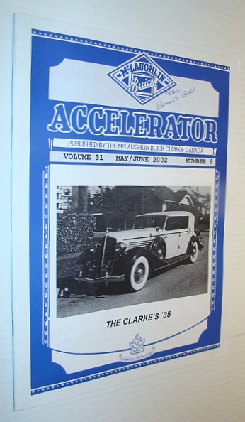 Image for Accelerator, May/June 2002, Volume 31, Number 6 - Publication of the McLaughlin Buick Club of Canada