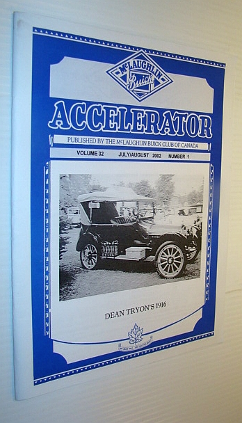 Image for Accelerator, July/August 2002, Volume 32, Number 1 - Publication of the McLaughlin Buick Club of Canada