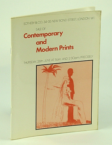 Image for Sotheby & Co. Sale of Contemporary and Modern Prints - Auction Catalogue, 26 June 1975, London (MERSEY)