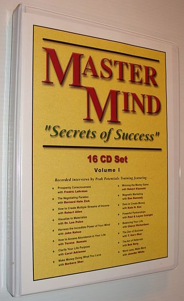 "Image for MasterMind (Master Mind) ""Secrets of Success"" CD Series, Volume I: 16 Audio CDs Complete with Case"