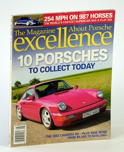 Image for EXCELLENCE THE MAGAZINE ABOUT PORSCHE August 2008 No. 166 (1992 Carrera RS, 10 Porsches, sports car, automobile)