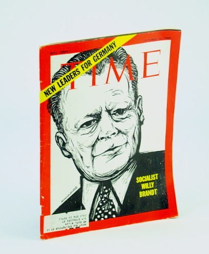 Image for Time Magazine October 10 1969 New Leaders for Germany Socialist Willy Brandt