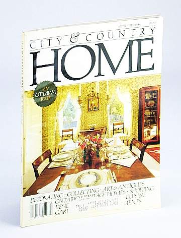 Image for City and Country Home Magazine, September (Sept.) 1986 - An Ottawa Tour / Coco Chanel