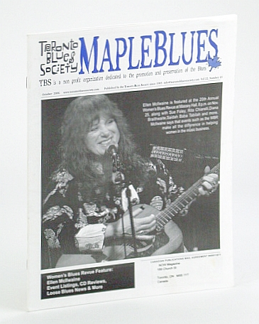 Image for Maple Blues Magazine, October (Oct.) 2006 -  Ellen McIlwaine Cover