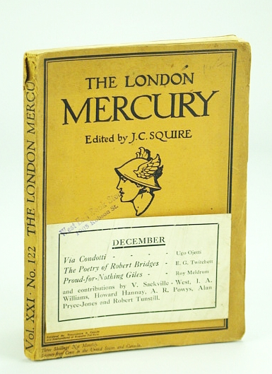 Image for The London Mercury, Vol. XXI, No. 122, December 1929