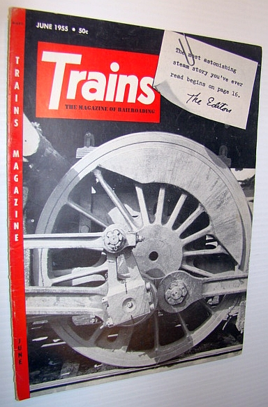 Image for Trains - The Magazine of Railroading, June 1955