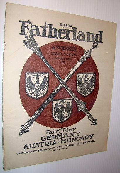 Image for The Fatherland - Fair Play for Germany and Austria-Hungary, October 14, 1914