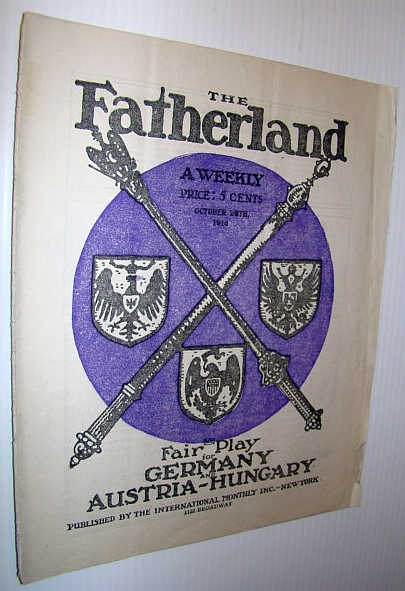 Image for The Fatherland - Fair Play for Germany and Austria-Hungary, October 28th, 1914
