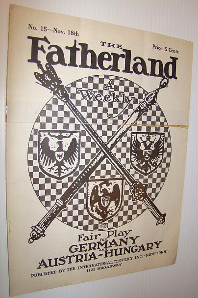 Image for The Fatherland - Fair Play for Germany and Austria-Hungary, November 18th, 1914