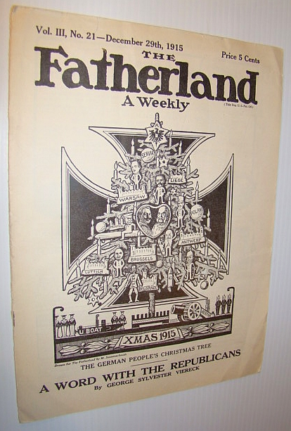 Image for The Fatherland - Fair Play for Germany and Austria-Hungary, December 29th, 1915 - Behind the Front, By Aleister Crowley